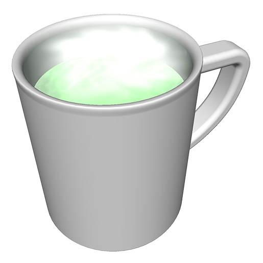 抹茶ミルクの完成