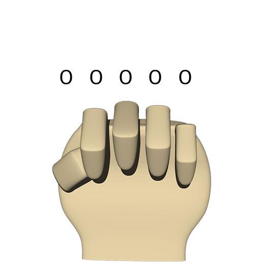 2進数の 00000 (10進数の 0)