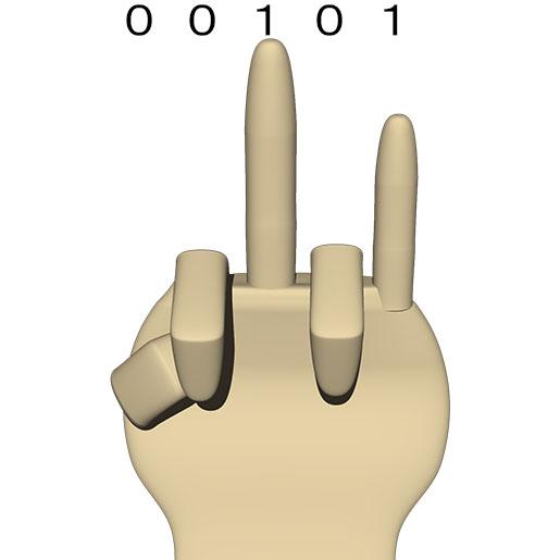 次が 00101 (10進数の 5)