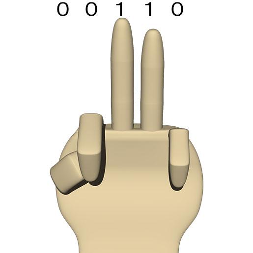 次は 00110 (10進数の 6)