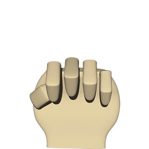 指が折れているので 0