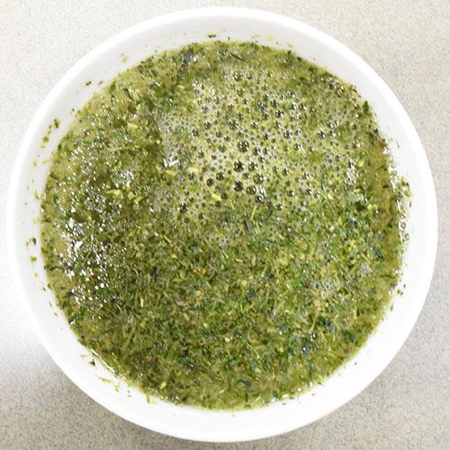 玉露粉にお湯を入れて1分後
