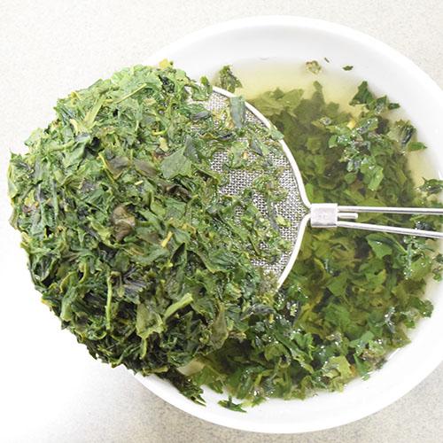 玉露芽茶茶殻