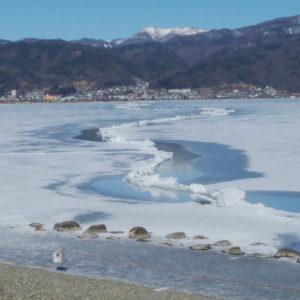 湊から見た諏訪湖
