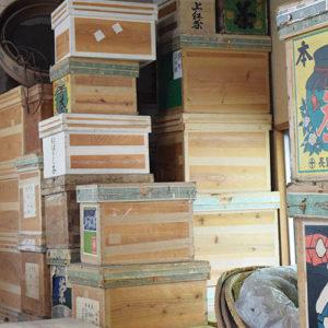 倉庫の茶箱