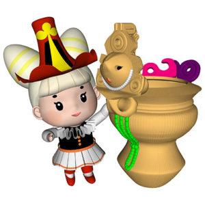ラムラム王かやちゃんと顔面把手付土器