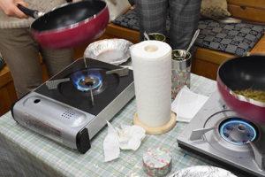焙烙とフライパン焙煎