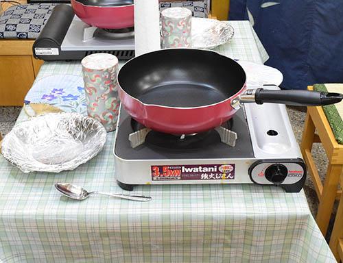 フライパン焙煎準備品