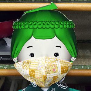マスクをつけたところ